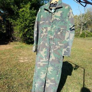 VTG Jumpsuit Coveralls Liberty Men's Large Camo